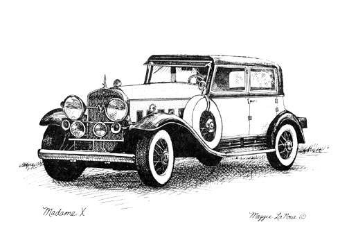 Madame X Classic Cadillac Line Art