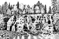 Bond Falls print of Michigan