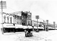 Downtown Albion, 1910