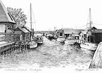 Fishtown Leland Michigan print